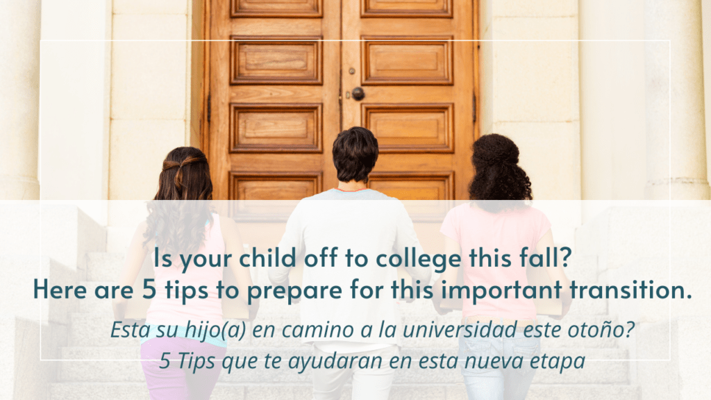 Kids off to college this fall- Here are 5 tips to prepare for this important transition